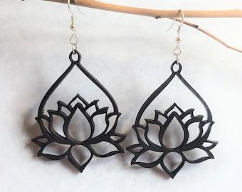 LOTUS EARRING SVG - Lotus Flower Svg - Earrings Svg Files - Flower Lover Gift - Laser Cut Files - Digital Download Pdf