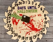 HALLOWEEN COUNTDOWN CLOCK, Wall Hanger, Laser Cut svg design, Glowforge Ready