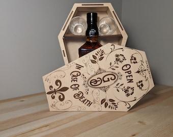 LIQUOR BOX SVG - Shot Glass Svg - Halloween Box Svg - Coffin Liquor Box - Coffin Box Svg - Liquor Bottle Box - Instant Download Svg