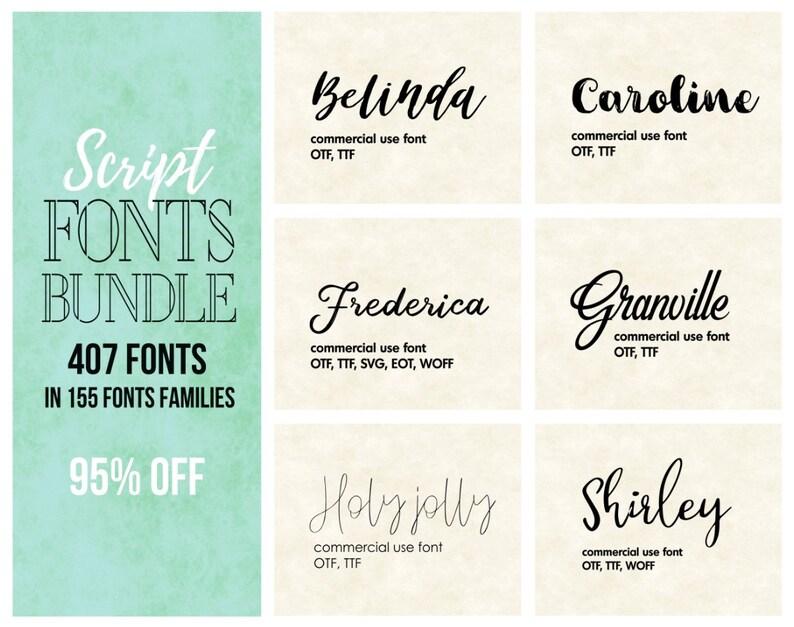 Download Script font bundle calligraphy font pack wedding fonts set ...