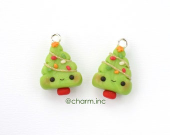 Tiny Christmas Coal Charms Polymer Clay Coal Stitch Marker Charm