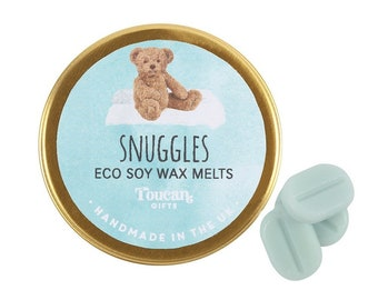 Snuggles Eco Soy Wax Melts by Toucan Gifts.