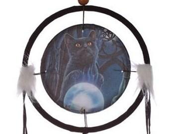 Lisa Parker Cat & Glass 16cm Dreamcatcher.