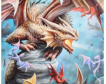Dragon Clan design canvas by talented artist Anne Stokes .