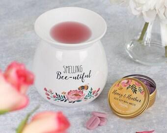 Large Smelling Bee-utiful Wax Melt Burner Gift Set