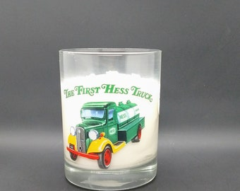 Pine Scented Soy Candle 8 oz  Collectible Hess / Truck Cup / Hand Poured Candle / Handmade Candle / Father's Day Gift