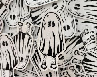 Boo Hoo Ghost Sticker