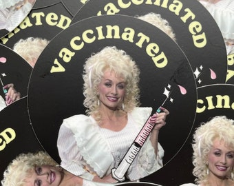 Dolly Parton VACCINATED Stickers