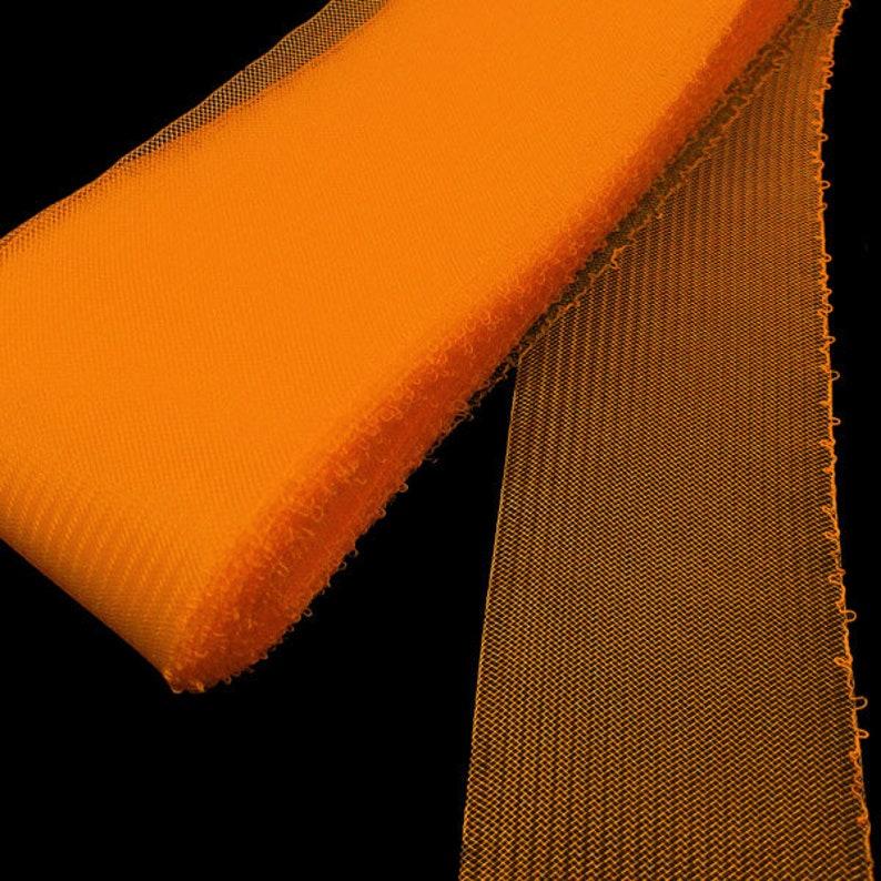 25 Yards Roll  3 Orange Threaded Horsehair Braid Trim FREE SHIPPING
