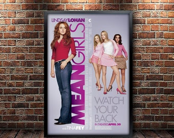 Mean Girls Movie Poster Framed and Ready to Hang.