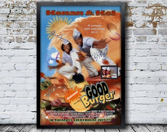 Good Burger Signed Movie PosterFramed and Ready to Hang, Collectible Memorabilia, Reprint Autographs, Signature