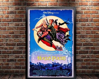 Hocus Pocus Movie Poster Framed and Ready to Hang.