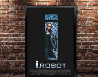 I, Robot Movie Poster Framed and Ready to Hang.