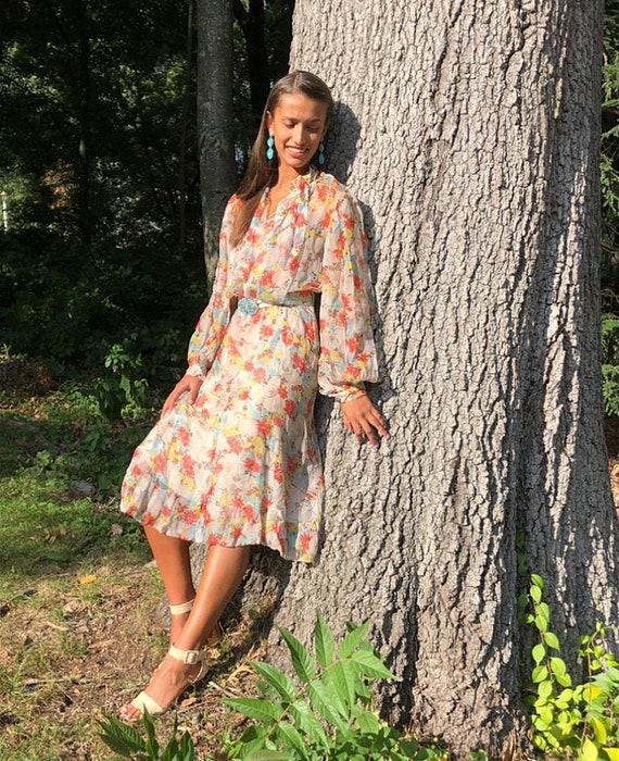 Vintage boho sheer dress