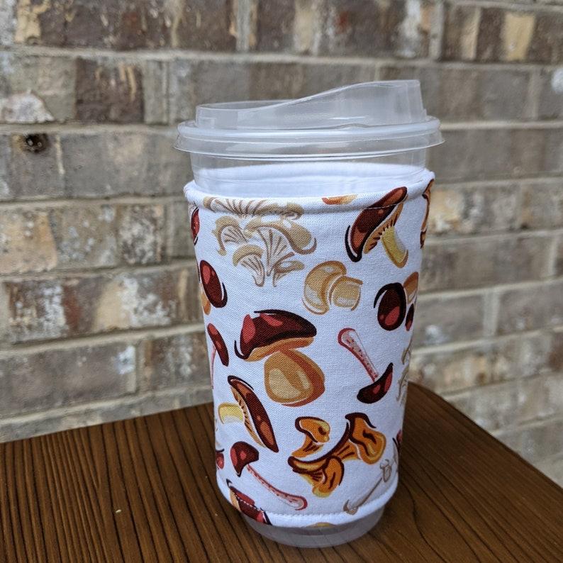 Mushroom  Iced Coffee Cozy Insulated Cup Sleeve 24oz Iced image 0