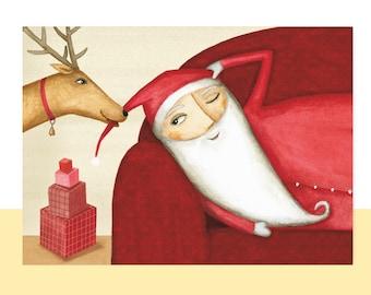 Christmas card, 4 pieces