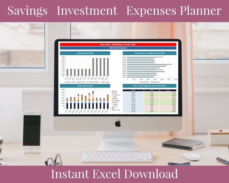 Fully Customizable Printable Personal Finance Planner for image 0