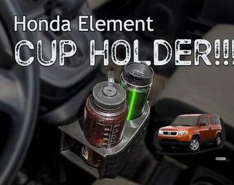 Honda Element Front Cup Holder - Fits Hydroflask Nalgene & Yeti Rambler