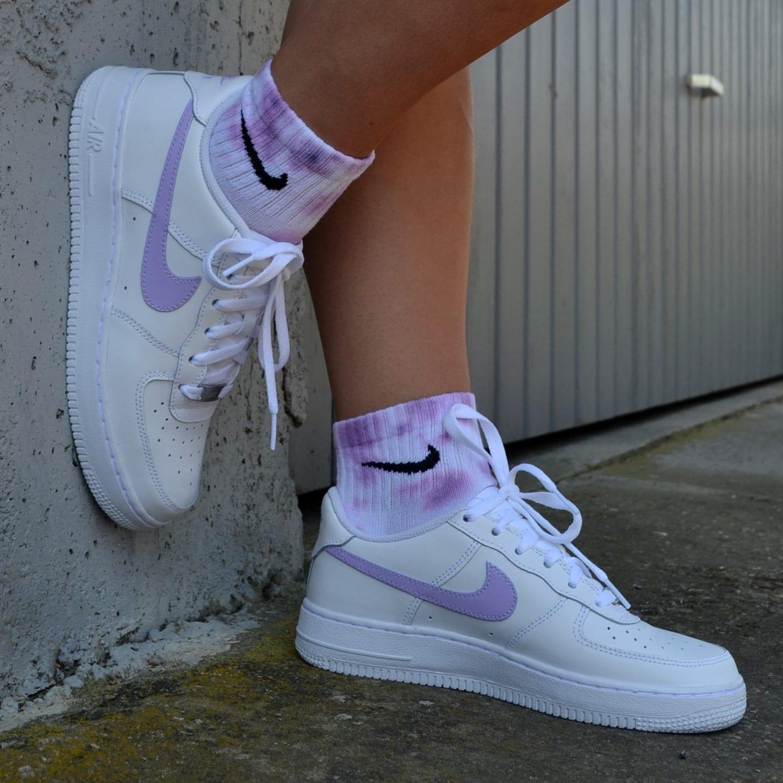 Nike Air Force 1 Custom Pastel colors / Purple Purple / Pastel | Etsy
