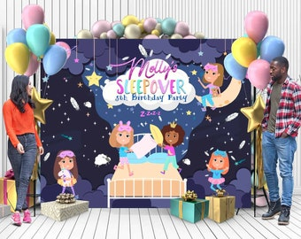 BannerSlumber Party DecorationsSleepover PartyTeen Party DecorationsTween Party DecoratioinsPJ PartyPajama Party Slumber Party