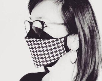 """3D mouth mask """"Origami"""" Black - White"""