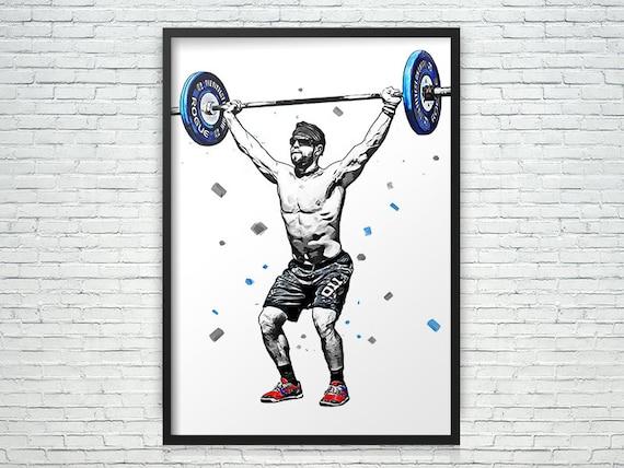 Sports Decor Kids Decor Canvas Art Print Frame Art CrossFit Poster Man Cave Gift Mat Fraser Poster Sports Art Print