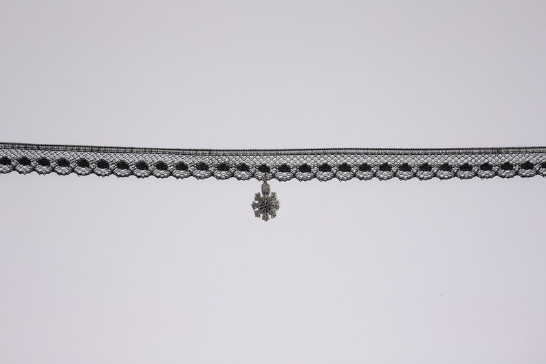 Gothic dark princess. Lace lantern or Snowflake choker for your choice
