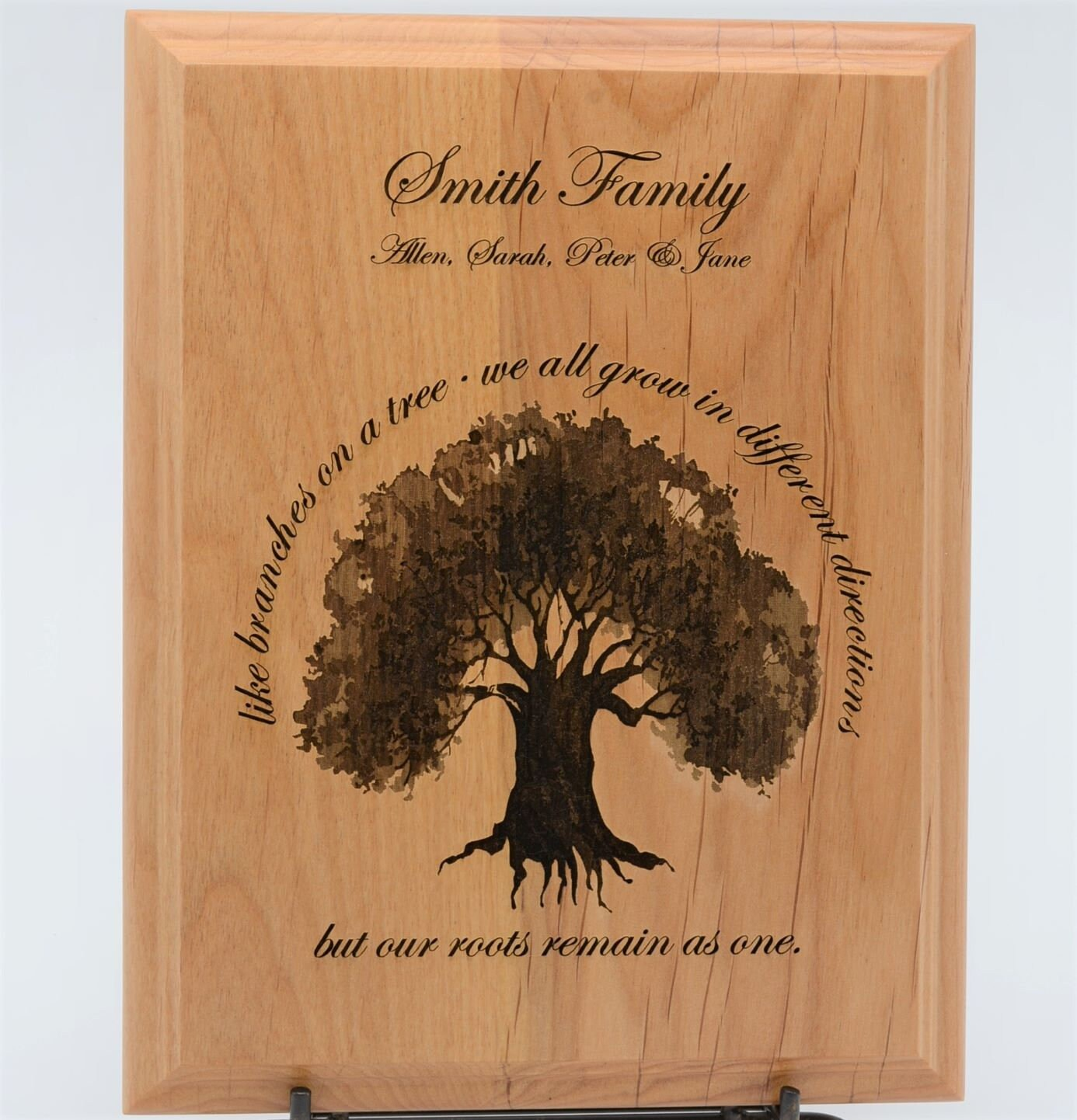 Personalized Alder Plaque Anniversary Gift Wedding Gift Etsy