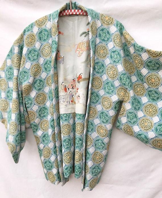 Japanese haori / japanese vintage kimono / japanes