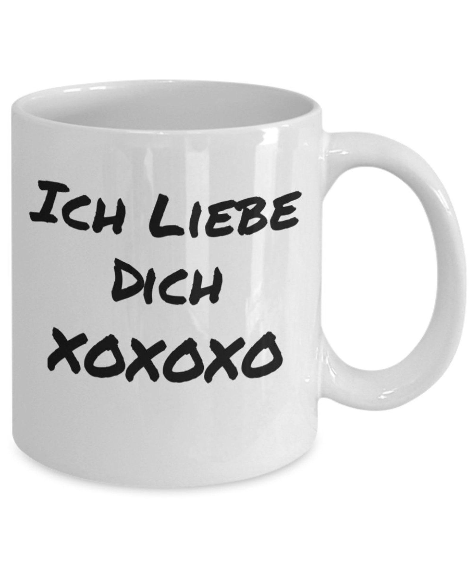 Mikabel ich liebe dich german love you valentine funny 11 oz coffee mug cup