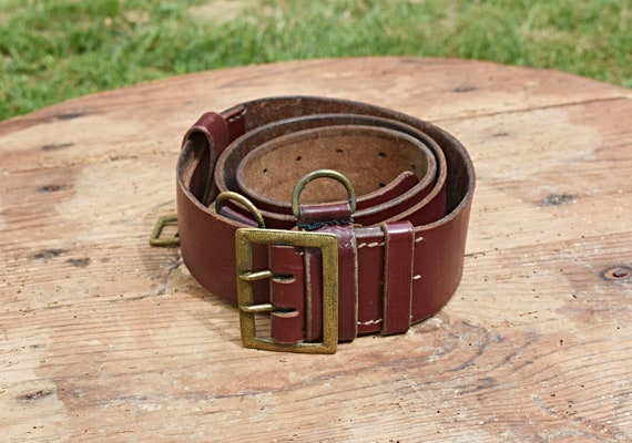 Antique army belt, Vintage military belt, Old army