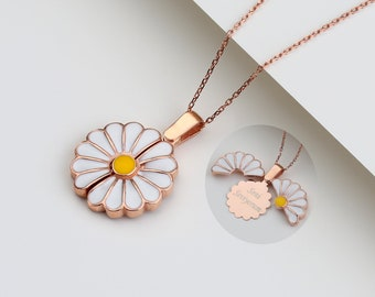 Personalized Daisy Name Necklace, Customized 925K Silver Name Necklace, Gift for Mum, Gift for Her, Best Friend Christmas Gift, Daisy Gift