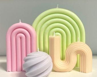 Customizable Candle Set   Interior Design Minimal Minimalist Minimalism Home Decor  Stocking Stuffer Gift Party Favor  Vegan Organic Soy Wax