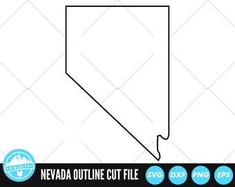 Nevada Outline Etsy