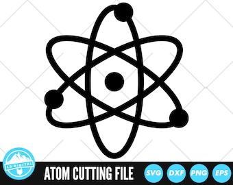 Atom SVG Files | Atomic Cut Files | Science Vector Files | Atoms Vector | Science Clip Art | CnC Files