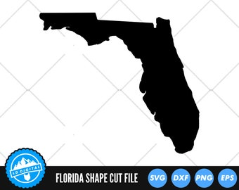 Florida State SVG Files   Florida Silhouette Cut Files   United States of America Vector Files   Florida Vector   Florida Map Clip Art