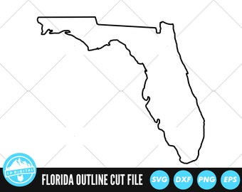 Florida Outline SVG Files   Florida Cut Files   United States of America Vector Files   Florida Vector   Florida Map Clip Art