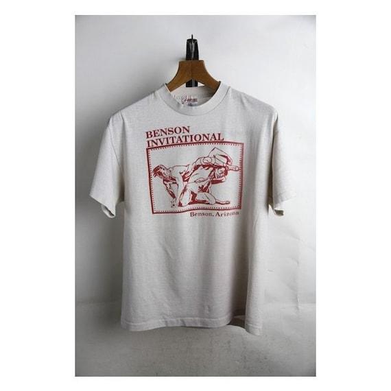 RARE!! Vintage 80s WRESTLING T Shirt