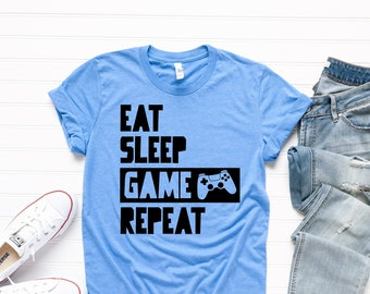 Eat Sleep Game T-Shirt Funny Gamers gaming xbox ps Gift Present