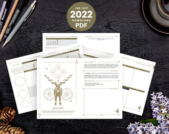 2022 Cosmoplanner Download   Productivity Moon Planner - Printable PDF