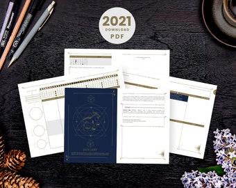 2021 Cosmoplanner Download   Productivity Moon Planner - Printable PDF