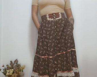 Jessica's Gunnies/ Gunne Sax/ Skirt/ Collectable/ 1970s/ Skirt / Rare