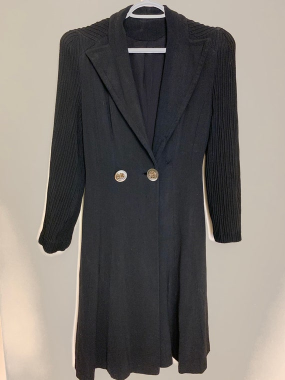 1930s 1940s princess style dress coat with NRB tag