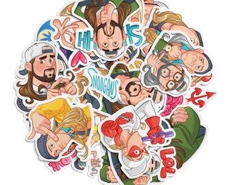 "Jay and Silent Bob 25 pcs Sticker pack Meme stickers Vinyl Decal Fan art Random sticker set Clerks sticker Funny sassy Friends keepsake 2 """