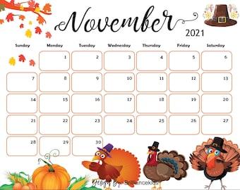November Calendar | Etsy