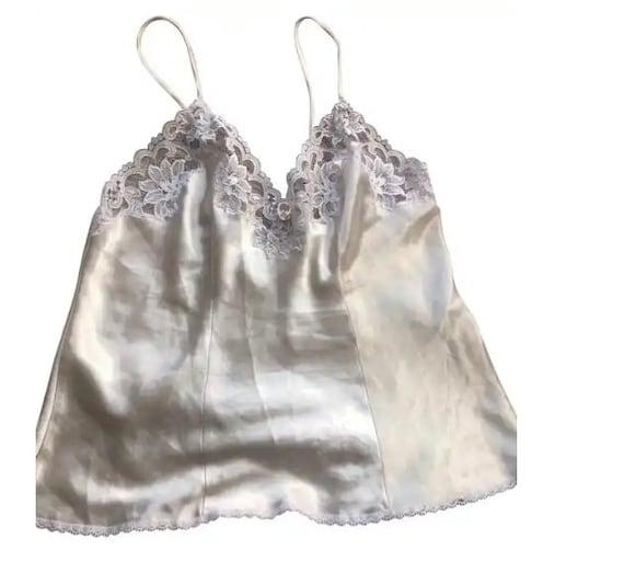 Christian Dior Vintage Cream Cami Lace Top