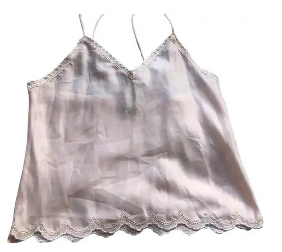 Christian Dior Vintage Light Pink Cami Lace Top