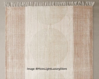 6x9 Ft Rug, Cotton Rug, Handmade Rug, Hand block Printed Rug, Floor Area Rug, Door Mat, Hand woven Rug, Decorative Rug, Indian Duri Carpet
