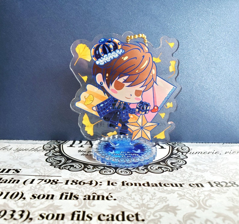 Gavin Special Birthday set Mr Love Queen/'s Choice  EVOL x LOVE double side printed Acrylic Keychain Stand with message card