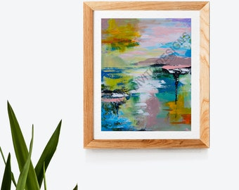 Dahlia Art Print - Cecilia Divito Design - Abstract Landscape Print - Home Decor